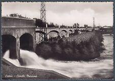 CREMONA CREMA 06 CANALE MARZANO PONTE Cartolina FOTOGRAFICA