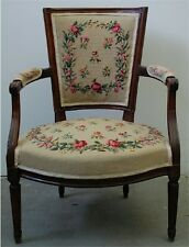 Fauteuil d'Epoque Louis XVI/16 XVIII/18 Ancien Cabriolet French Armchair Chair