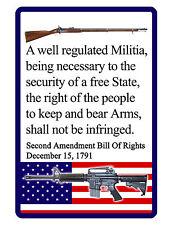 2nd Amendment Sign...Hi Gloss..NO RUST Aluminum Custom Signs..