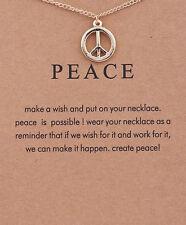 """Pendant Necklace """"Peace"""" Charm"""