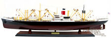 "SS American Scout C-2 Cargo Ship 35"" Handmade Wooden Cargo Ship Model NEW"