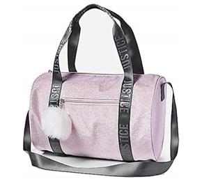 Justice Shimmer Logo Pink Duffel Bag