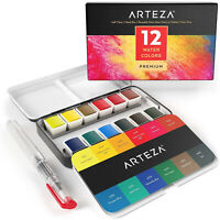 Watercolor Paint Set Painting Water Color Brush Pen Artists Drawing Art Supplies