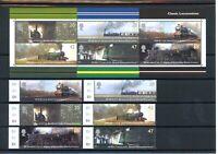 Großbritannien MiNr. 2174-79, Block 18 postfrisch MNH Eisenbahn (Eis1455