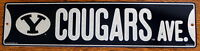 Street Sign Cougars Ave NCAA Lic.colorful picture Brigham Young University BYU