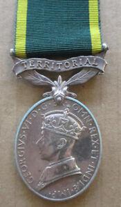 Efficiency Medal (GVI) Territorial bar to Gunner A.S. Mortimer, Royal Artillery