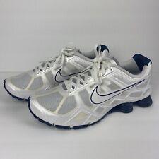 Mint Nike Shox 454166 Men's Size 13 Navy Blue / White Lace Up Nike+ Fitsole