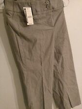 NWT New York and Company  Modern Stripe Straight Leg Casual Pants Womens size 2