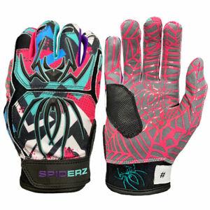 Spiderz 2021 Hybrid Baseball/Softball Batting Gloves - Vivid - Large
