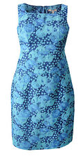 New Pepperberry Bravissimo 8 - 18 CV RC SC Jacquard Blue Teal Shift Party Dress