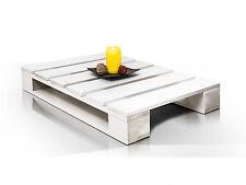 Couchtisch PALETTI I 60x90 Fichte weiß Wohnzimmertisch Paletten Tisch Möbel