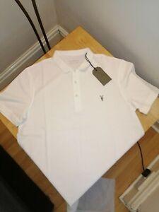 AllSaints Reform Slim Fit Polo Shirt, New Size Large