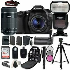 Canon EOS 80D Digital SLR Camera Bundle with Canon EF-S 18-55mm f/3.5-5.6
