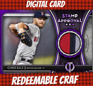 Topps Bunt Digital Chris Sale Tribute 20 Purple Stamp Of Approval Relic