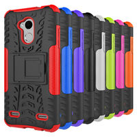 Hybrid Rugged Armor Shockproof Hard Case Stand Cover For ZTE V6 Plus
