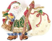 Fitz & Floyd Classics Decorative Santa Clause Collector Plate with Handle