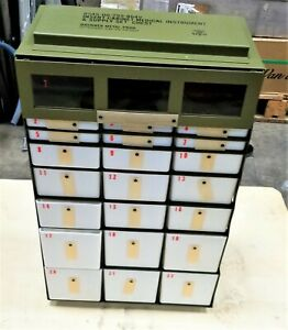 Military Medical Instrument Storage Supply Cabinet Chest 22 Drawer [F3TP]