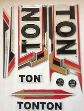 Cricket bat sticker set A grade quality 3D/EMBOSSED Red/Brown