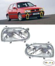 VW GOLF MK3 III GTI/GTD 1992 - 1998 NEW FRONT HEADLIGHT LAMPS LEFT + RIGHT LHD