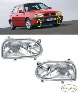VW Golf MK3 III Gti / GTD 1992 - 1998 Neuf Avant Phare Lampes Gauche+Droit LHD