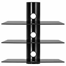 Modern 3Tier TV Wall Mount Bracket 3 Shelve For DVD Sky Box Game Console LED LCD
