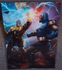 Thanos vs Darkseid Glossy Art Print 11 x 17 In Hard Plastic Sleeve