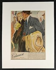 Celanese Clothes Advertisement Advertising Print Matted 11 x 14 New Yorker