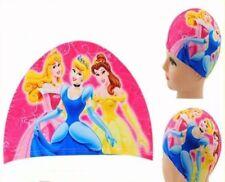 PRINCESSES Girls Kids Childrens LYCRA SWIMMING CAP Swim Hat Digital Printing NEW