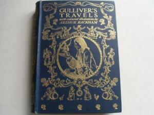 GULLIVER'S TRAVELS  Jonathan Swift  12 colour plates Arthur Rackham 1st 1909 16N