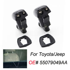 2PCS Front Windshield Washer Jet Water Nozzle For Jeep Grand Cherokee 2005-2018