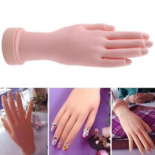 Practice Flexible Mannequin Hand Nail Display Training Fingers Stand Model KI