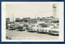 Lufkin Texas tx Southland News print autos water Tower real photo postcard RPPC