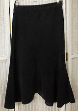 "LAURA ASHLEY Stretch Flared Maxi Skirt UK12 / EU38 34"" Waist Navy Blue Corduroy"