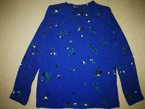 Bluse von FREE/QUENT in Blau bedruckt~~Größe L