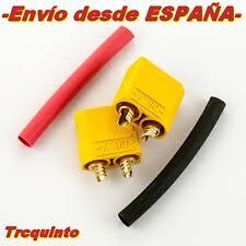 Conectores baterías, XT90 (90Amp), (hembra & macho), radiocontrol y robótica.