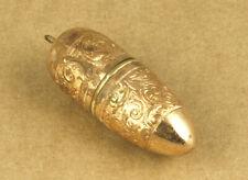 Vintage Empty Sewing Kit Bullet Shape Capsule