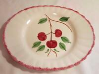Large Vintage Blue Ridge Southern Potteries Handpainted Cherry Bounce Platter