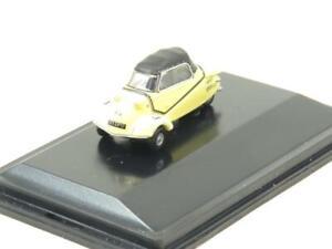 Oxford Diecast 76MBC003 Messerschmitt KR200 Cabrio Yellow 1 76 Scale Boxed