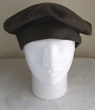 VTG WWII Green Cover Service cap 100% Wool size 7 3/4 Militaria Collectible  C2