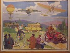 affiche scolaire histoire automobile et aviation conquette TONKIN