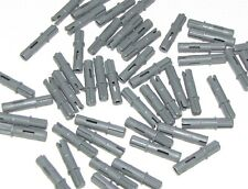 Lego Lot of 50 New Dark Bluish Gray Technic Axles Pin 3L with Friction Ridges
