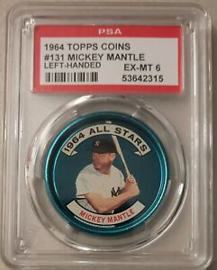 1964 Topps coins #131 Mickey Mantle All-Star (Left Handed) - PSA 6