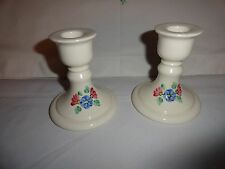 Beautiful Pair Of Porcelain Candle Holders