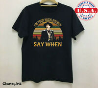 Rare Doc Holliday Tombstone I'm Your Huckleberry Say Black Men S-234XL T-shirt