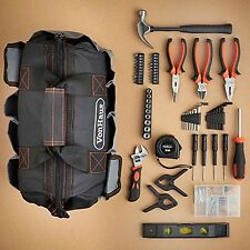 Starter Diy Tool Kit Bag 92 Piece Essential Tools Carry Case Garage Home Car