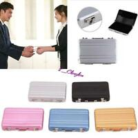 Mini SUITCASE Business Name Credit ID Card Holder Metal Fine Box Case Pocket All
