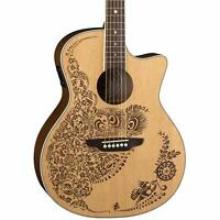 Luna Henna Oasis Acoustic Electric Guitar - Solid Spruce Top
