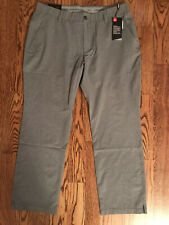 UNDER ARMOUR MENS UA MATCH PLAY VENTED FLAT FRONT GOLF PANTS –40X32-GRAY - $85