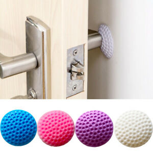 4 x Wall Protector Self Adhesive Rubber Stop Door Handle Bumper Guard Stopper