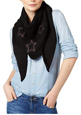 Women's NWT Marcus Adler Starstruck Triangle Scarf Black